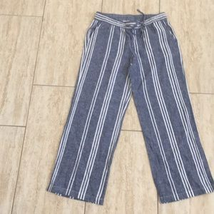 Old navy striped linen pants